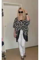white H&M jeans - black H&M top