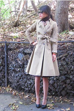 JCrew coat - ann taylor sweater - kate spade necklace