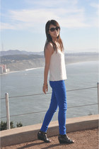 American Eagle jeans - Dolce Vita wedges - JCrew top