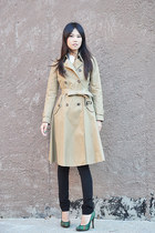 Bottega Veneta pumps - JCrew coat - Gap pants