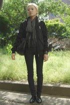 black Forever 21 pants - black Zara jacket
