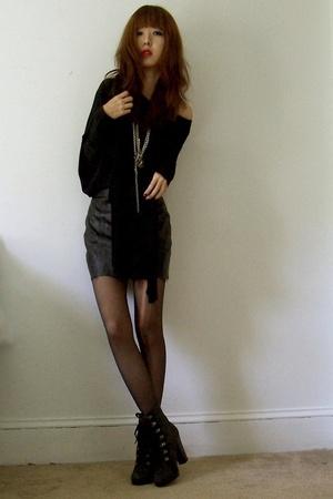 bailey 44 top - vintage skirt - forever 21 - Colin Stuart