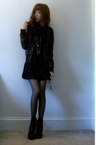 Urban Outfitters scarf - forever 21 jacket - forever 21 skirt - Colin Stuart