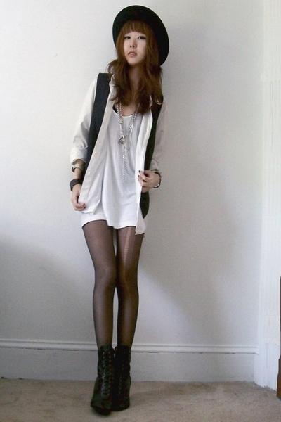 hat - Gap shirt - American Apparel - vintage vest - vintage
