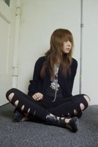 vintage jacket - vintage t-shirt - H&M leggings - bronx shoes