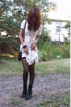 forever 21 dress - dior purse - vintage - CVS tights