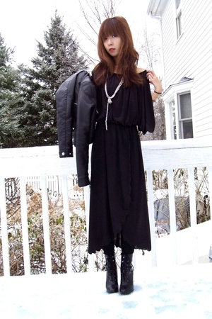 vintage dress - H&M jacket - payless