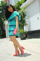 Marc fashion dress - purse - limited collection heels - diva necklace