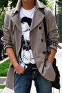 Beige-h-m-coat-blue-true-religion-jeans-brown-fluevog-boots-black-balencia
