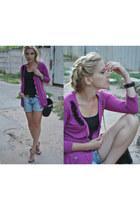 cardigan DIY cardigan - bag H&M bag - shorts River Island shorts
