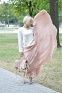 Peach-silk-celine-skirt