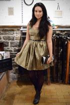 two toned Zara boots - metallic kensie dress