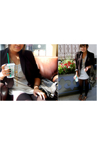 Forever 21 top - vintage from Ebay blazer - Forever 21 leggings
