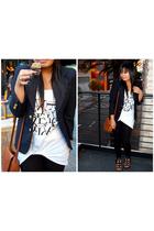 vintage from Ebay blazer - H&M t-shirt - vintage purse