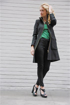 black Zara jacket - black tuxedo stripe H&M pants - black Gap heels