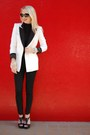Black-forever-21-blazer-white-double-breasted-zara-blazer