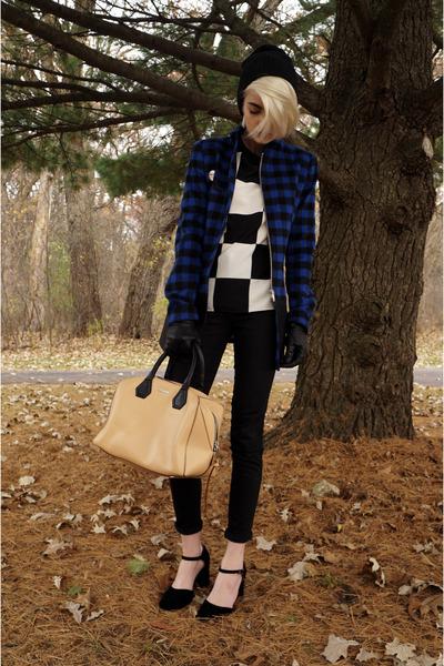 easy American Apparel jeans - Rebecca Minkoff purse - checkered H&M t-shirt