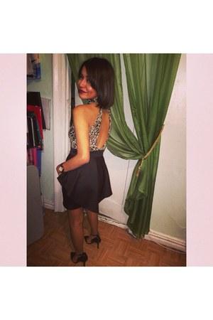 mustard Michael Kors watch - black Accessorize dress - black Forever 21 heels