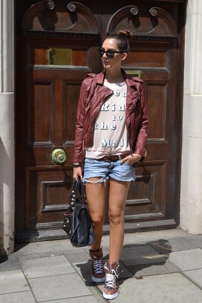 2445b05f745 Wildfox sweater - Forever 21 jacket - balenciaga bag - Givenchy sneakers