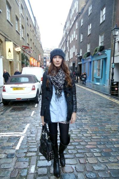 Forever21 skirt - Giuseppe Zanoti boots - Diesel hat - Bershka jacket