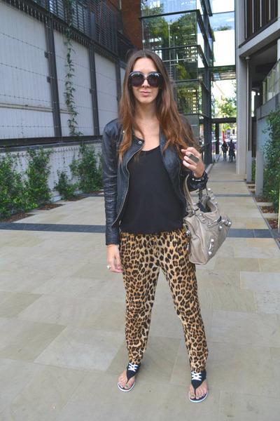 Zara pants - Bershka jacket - balenciaga bag - dior sunglasses