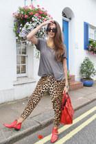 Lemaré boots - red Celine bag - Zara pants