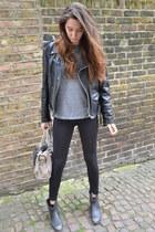 ASH boots - H&M leggings - balenciaga bag - Marc Jacobs t-shirt