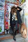 Primark-dress-charlotte-simone-scarf-balenciaga-bag
