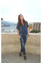Diesel romper - Chanel bag - Christian Louboutin heels