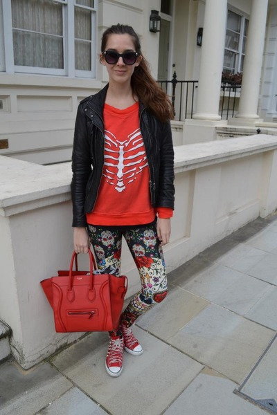 Celine bag - Bershka jacket - Wildfox sweater - freak of nature leggings