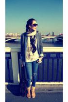 beige vintage boots - Primark jacket