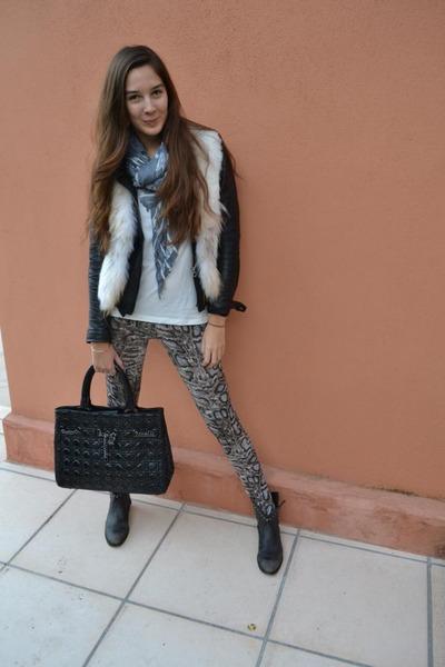 christian dior bag - ASH boots - Bershka jacket - Primark scarf