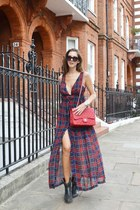 Maxi tartan dress