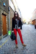 Topshop jacket - Alexander Wang bag - Forever 21 wedges - Zara pants
