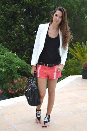 Converse sandals - Topshop blazer - balenciaga bag