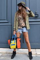 black Minnetonka boots - Zara hat - yellow Celine bag