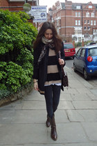 santiag vintage boots - vintage jacket - Topshop sweater - from morroco bag