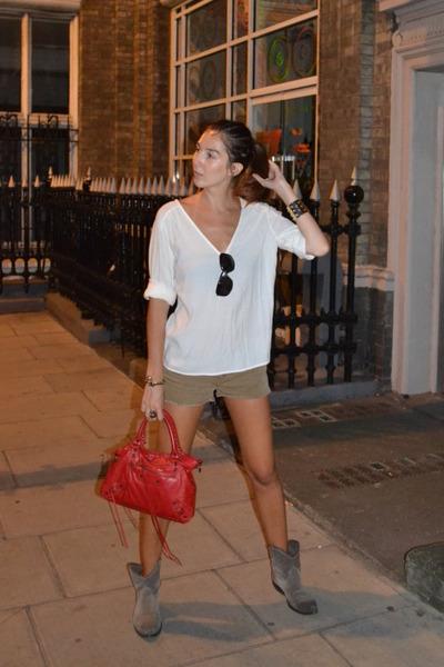Zara shirt - balenciaga bag