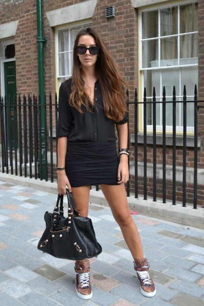 Givenchy sneakers - balenciaga bag - t by alexander wang skirt