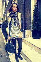 Topshop boots - fur Zara jacket - shiny Primark jacket