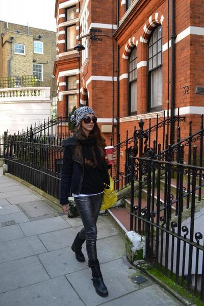 balenciaga bag - ASH boots - Topshop jacket - Zara pants