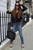 Topshop jeans - Hermes bag - Givenchy sneakers