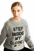 Bow & Drape sweatshirt - H&M leggings