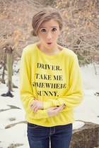 wildfox couture sweatshirt - isaac mizrahi boots - abercrombie and fitch jeans