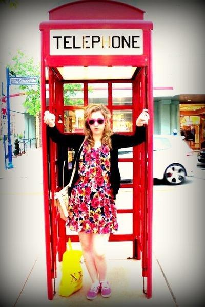Forever 21 dress - Target bag - Target glasses - Candies cardigan