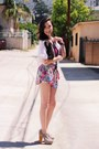 White-irenes-story-blouse-blue-sugalrips-shorts