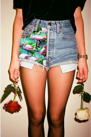 sky blue Flamingo apprel shorts