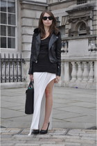 black Topshop jacket - black 31 Phillip Lim bag - black ray-ban sunglasses