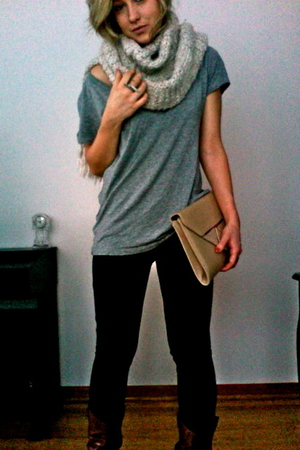 gray Forever 21 shirt - silver H&M scarf