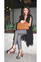 Shakuhachi vest - thrifted vintage bag - Gorman pumps - Sportsgirl pants - top